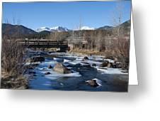 Mountain Creek In October Greeting Card