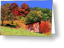 Mountain Home Place Back Yard  Greeting Card