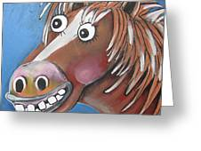 Mr Horse Greeting Card