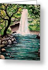Mystical Waterfall Greeting Card