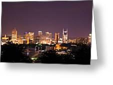 Nashville Cityscape 3 Greeting Card by Douglas Barnett