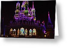 Neon Castle Greeting Card