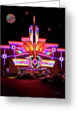 Neon Night At The Bijou Greeting Card