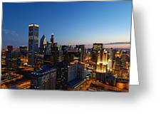 Night Falls On Chicago - D001087 Greeting Card