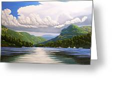 Off The Boat Greeting Card