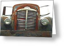 Old International Gravel Truck Greeting Card