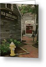 Old South Wharf Greeting Card by David Poyant