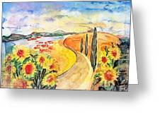 Over The Tuscan Hills Greeting Card by Regina Ammerman
