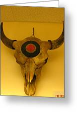 Painted Bison Skull Greeting Card