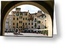 Piazza Antifeatro Lucca Greeting Card