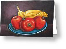 Platter Of Fruit Greeting Card