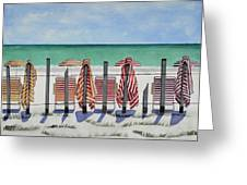 Preparing For A Day At The Beach Greeting Card