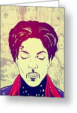 Prince Greeting Card by Giuseppe Cristiano