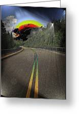 Road To Darkness Greeting Card