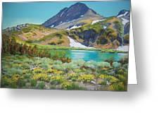 Round Top Lake  Summer Greeting Card