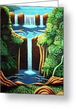 Saltwater Falls 3 Greeting Card by Barbara Stirrup