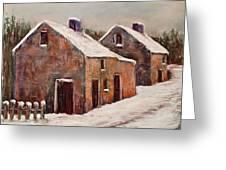 Snow Fall In Ireland Greeting Card