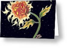Solar Sun Flower Greeting Card by Law Stinson