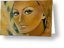 Sophia Loren Greeting Card