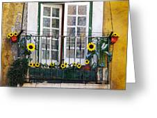 Sunflower Balcony Greeting Card