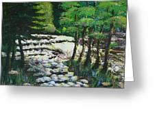 Sunlit Waterfall Greeting Card