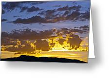 Sunset Over Horsetooth Rock Greeting Card by Harry Strharsky