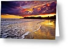 Surreal Sunset Greeting Card by Iris Greenwell