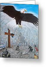 The Eagle Will Rise Greeting Card by Norman F Jackson