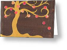 Tree Of Life - Left Greeting Card by Kristi L Randall