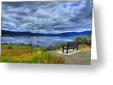 View From A Bench Greeting Card