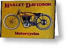 Vintage Harley Davidson Greeting Card