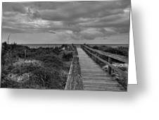 Walk To The Beach Alantic Beaches Nc Greeting Card