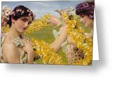 When Flowers Return Greeting Card
