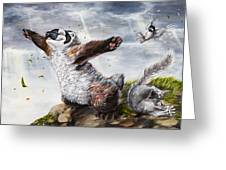 Windy Day Greeting Card by Beth Davies