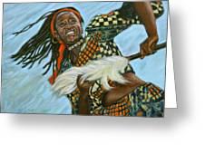 Woman Dancing Greeting Card