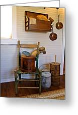 Wooden Wares And Farm Life Greeting Card by Carmen Del Valle