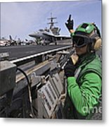 Aviation Boatswain's Mate Signals Metal Print by Stocktrek Images
