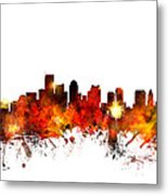 Boston Massachusetts Skyline Metal Print by Michael Tompsett