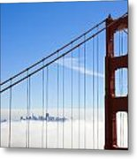 Bridge To The City In The Clouds Metal Print by Darren Patterson