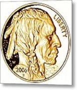 Buffalo Nickel Metal Print by Fred Larucci