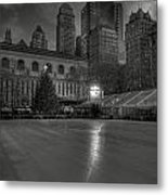 Christmas In Bryant Park Metal Print