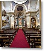 Church Of Santa Barbara Interior In Madrid Metal Print by Artur Bogacki
