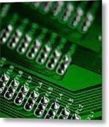 Circuit Board Bokeh Metal Print