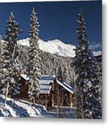 Colorado Mountain House Metal Print by Michael J Bauer