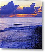 Dusk At County Line Metal Print by Ron Regalado