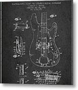 Fender Guitar Patent Drawing From 1961 Metal Print