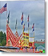 Fireworks Stand Metal Print by Cathy Anderson
