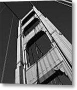 Golen Gate Tower Metal Print