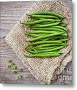 Green Beans Metal Print by Sabino Parente