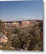 Hiking National Monument  Metal Print by Michael J Bauer
